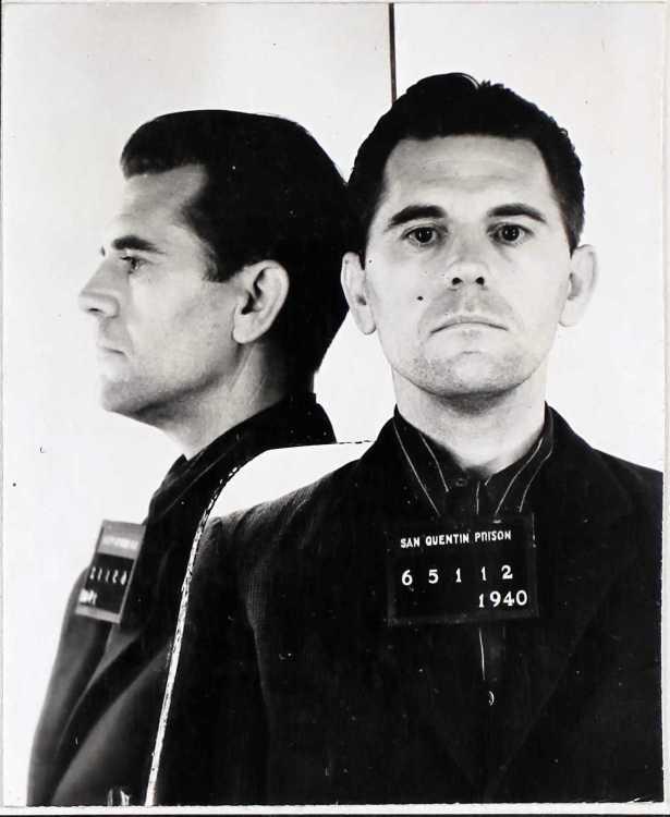 Eddie Rollins' prison mugshot, 1938.