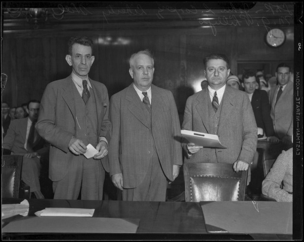 Liberty Hill (center) in court , 1932. UCLA digital.