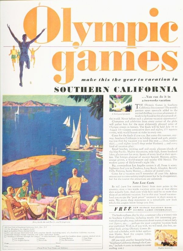 1932 olymipics summer games los angeles