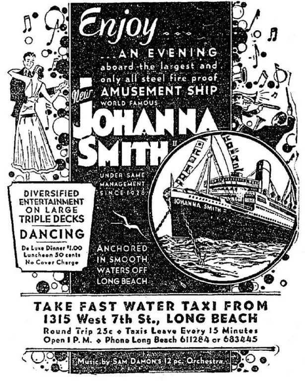 Ad for the Johanna Smith II, August 1932.