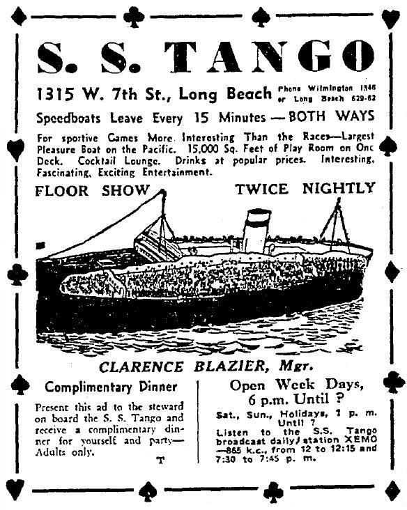 gambling ship s s tango