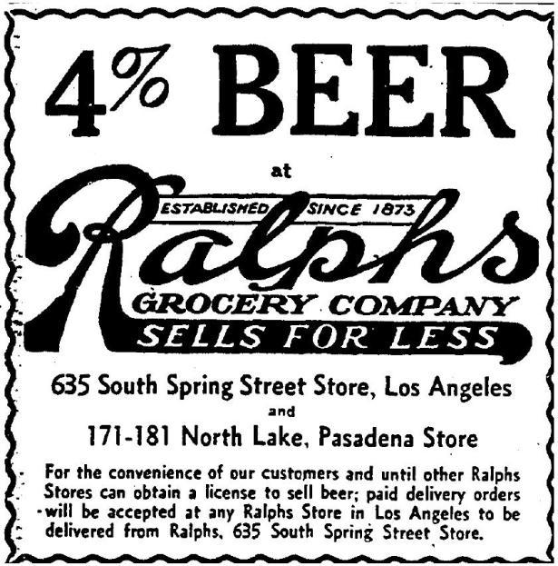 Ralphs Los Angeles 1933