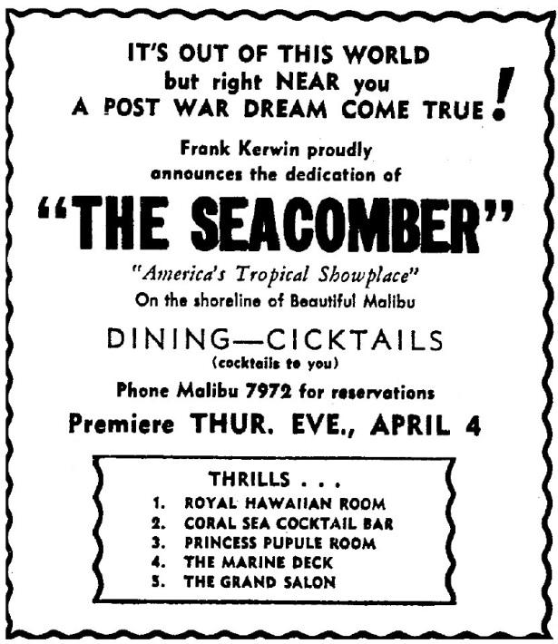 seacomber malibu