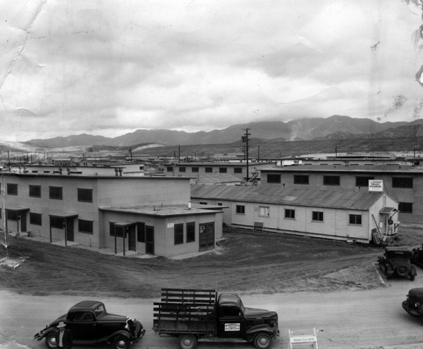 Basilone Homes ready for occupancy, February 17, 1947. LAPL.