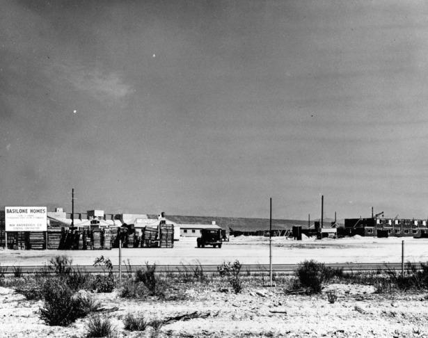 Basilone Homes, c. 1946-1947. 10160 Glenoaks Boulevard. LAPL.