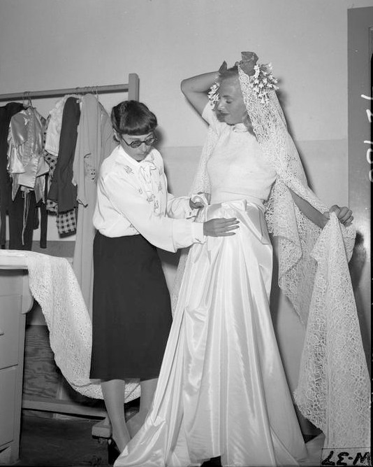 edith Head gravel gertie's wedding dress